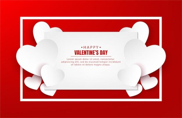 Fahnenvektordesign des glücklichen valentinstags