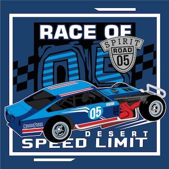 Fahre das schnellste auto der stadt
