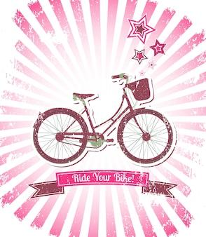 Fahre mit deinem fahrrad-banner