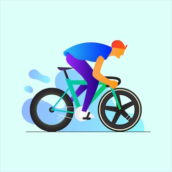 Fahren sie mit einem fixie bike illustration background