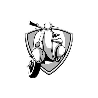 Fahrer-maskottchen-design schwarz und weiß