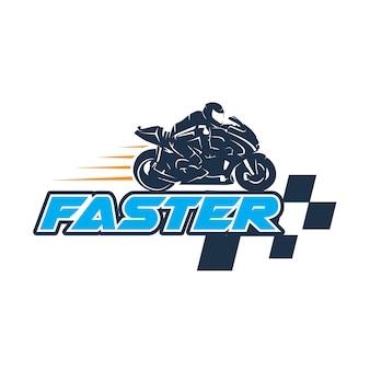 Fahrer moto gp ilustration