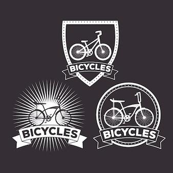 Fahrrad-emblem setzen