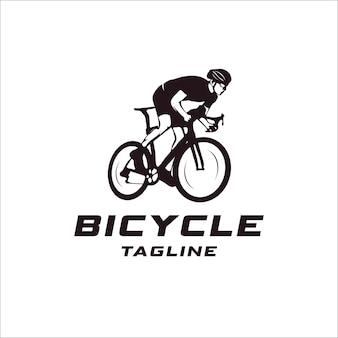 Fahrrad event logo konzept