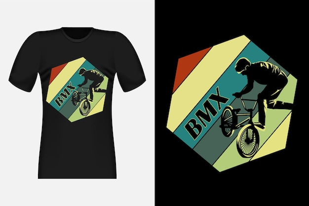 Fahrrad freestyle silhouette vintage retro t-shirt design