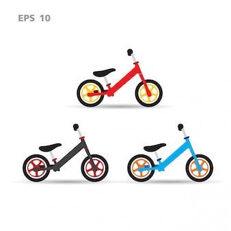 Fahrrad gesetzt