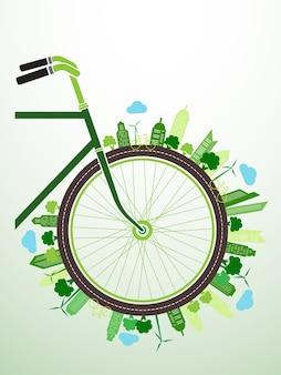 Fahrrad grün