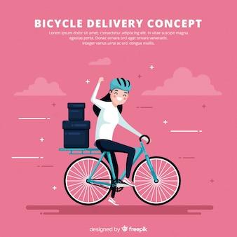 Fahrrad-lieferung