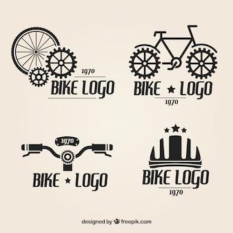 Fahrrad-logos gesetzt