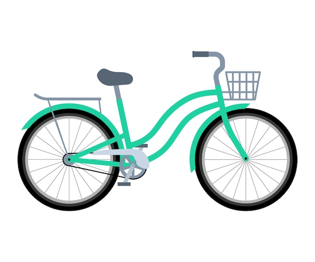 Fahrrad mit korb und kofferraum transport für die lieferung umweltfreundliches fahrrad