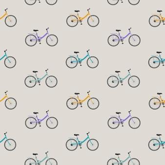 Fahrrad nahtloser musterhintergrund.