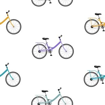 Fahrrad nahtloses muster