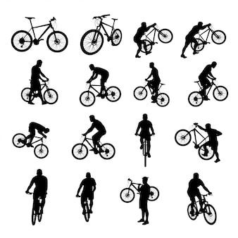 Fahrrad schwarz eingestellt