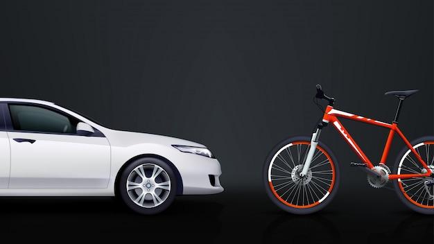 Fahrrad und auto