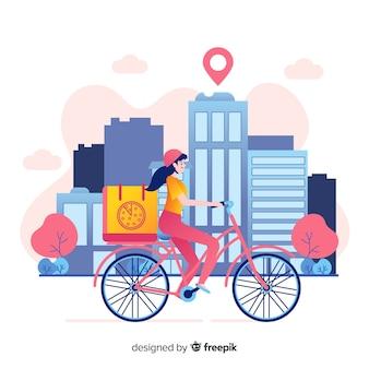 Fahrradauslieferung