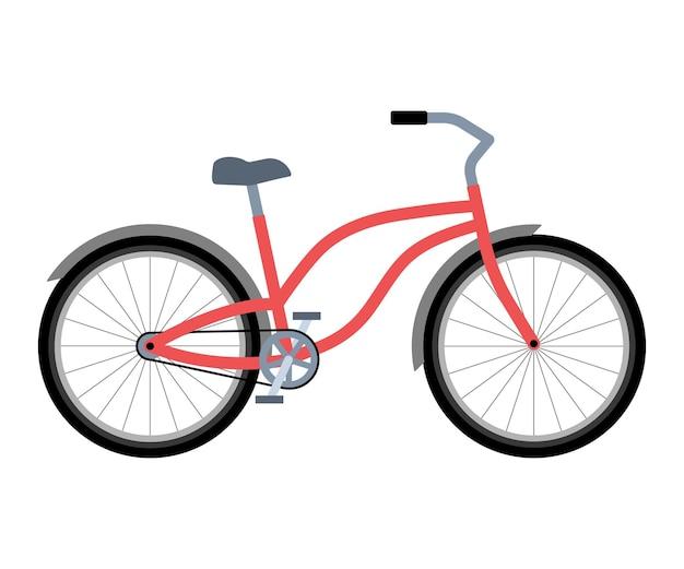 Fahrradfahren im vintage-stil umweltfreundlicher transport