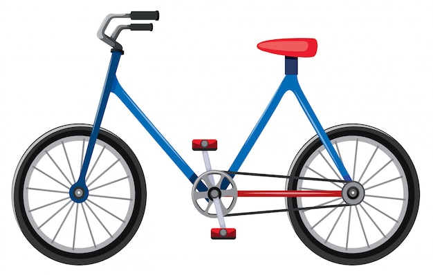 Fahrradkarikatur lokalisiert