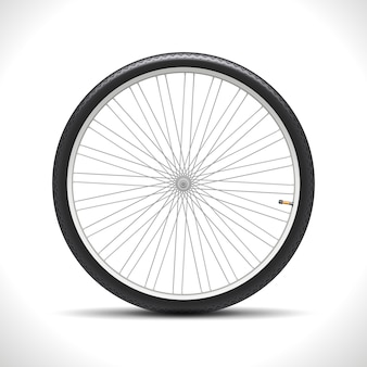 Fahrradrad isoliert