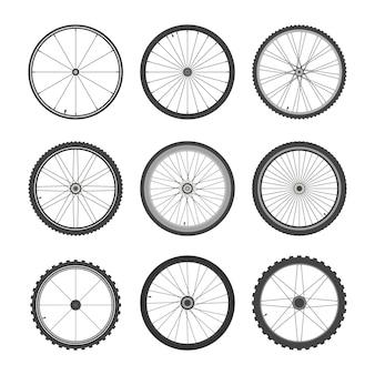 Fahrradräder eingestellt