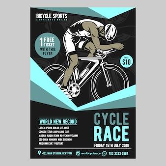 Fahrradrennen flyer vorlage