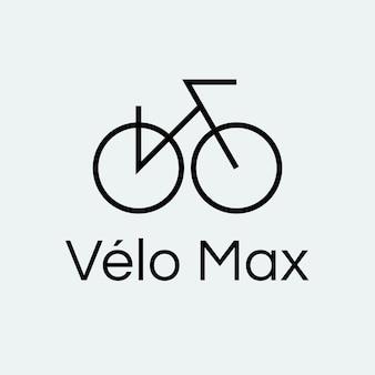 Fahrradsportlogoschablone, fahrradillustration im minimalen designvektor