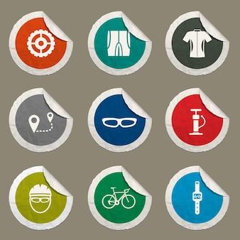 Fahrradsymbole für websites und benutzeroberfläche eingestellt