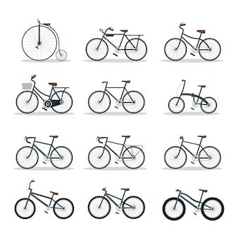 Fahrradtypen und stilobjekte festgelegt