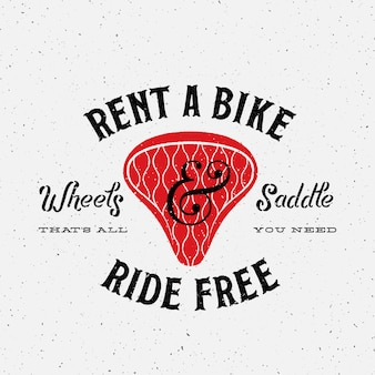 Fahrradverleih retro logo vorlage