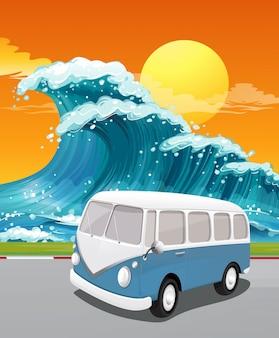 Fahrt zum ozean
