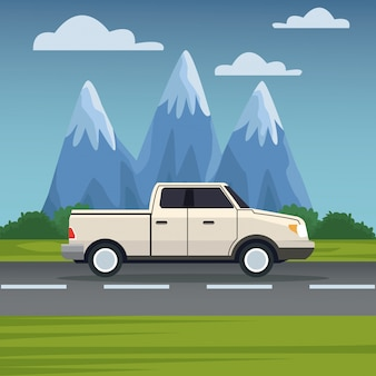 Fahrzeug in der autobahn