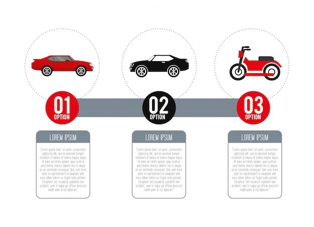 Fahrzeug-infografik
