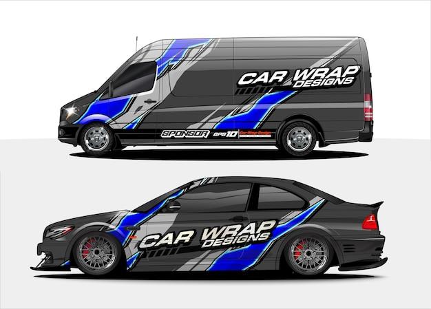 Fahrzeugdesignkonzept für decal branding
