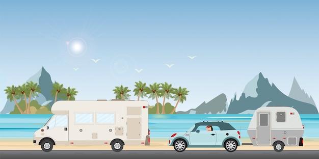 Fahrzeuge auf einer reise
