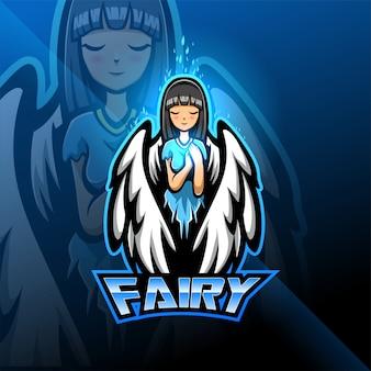 Fairy esport maskottchen logo design