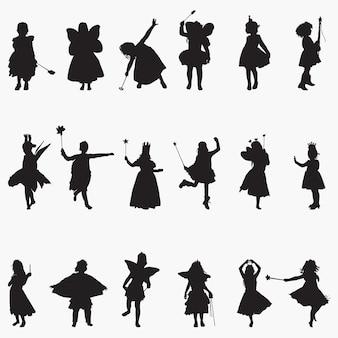 Fairy girl silhouetten