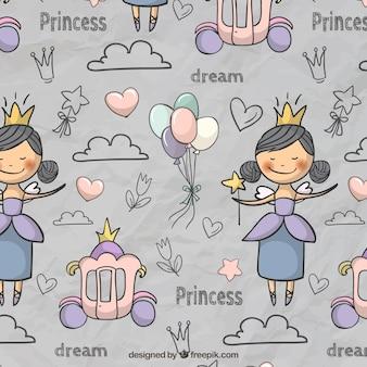 Fairytale pattern in niedlichen stil