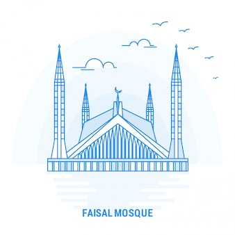 Faisal mosque blue landmark