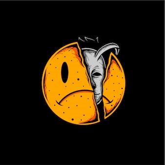 Fake smile illustration design