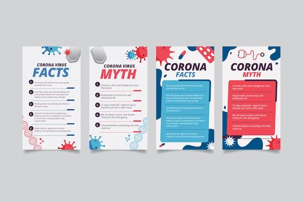 Fakten und mythen über coronavirus für instagram-posts
