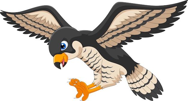 Falcon cartoon fliegen