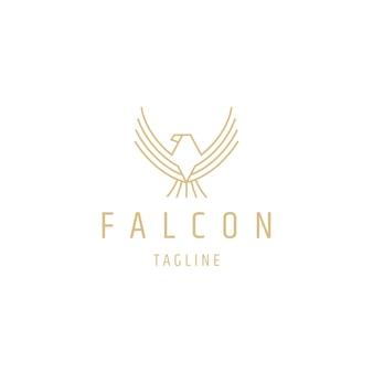 Falcon line logo-design-vorlage