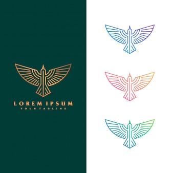 Falcon logo konzept abbildung.