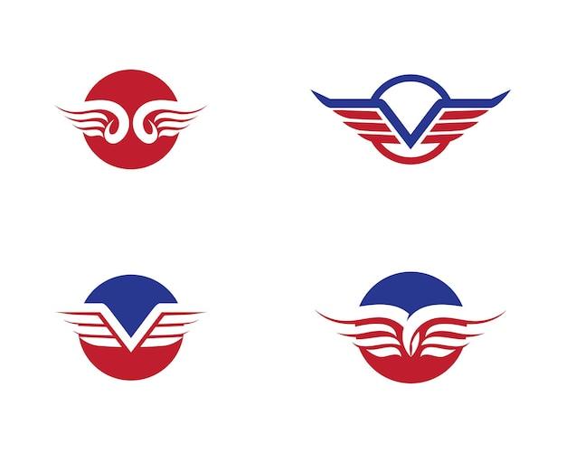 Falcon wing logo vorlage vektor icon design