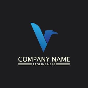 Falke, adler logo und flügel vorlage vektor illustration design icon
