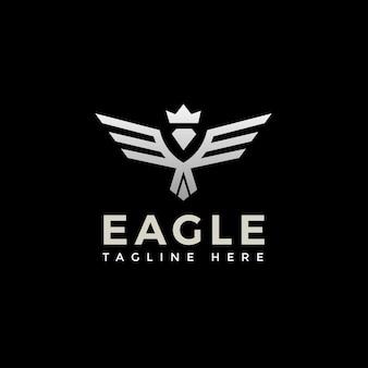 Falke, falke, adler starkes monogramm-logo