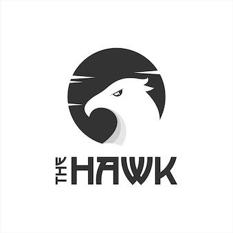 Falke-maskottchen-logo-design-tier-vektor