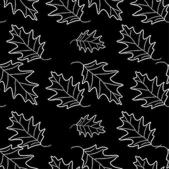 Fallen sie nahtlose blätter hintergrund-vektor-illustration. herbstmuster. botanische kunst. thanksgiving-tag-tapete. feier floral wiederholen kulisse.