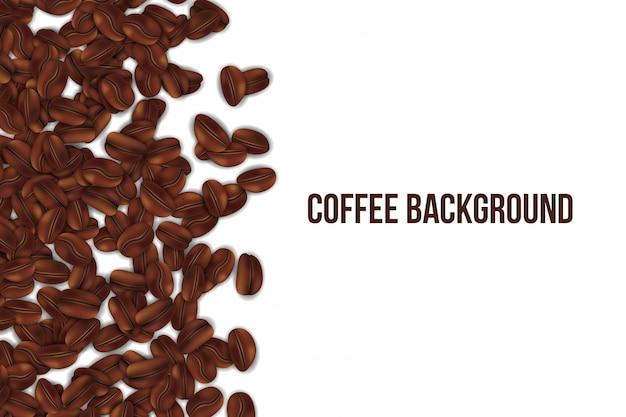 Fallende röstkaffeebohnen