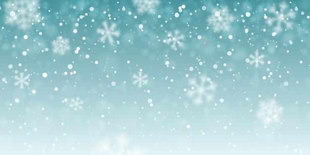 Fallende schneeflocken