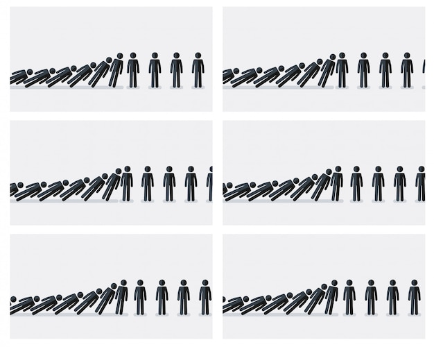 Fallende strichmännchen animation sprite sheet. von dominoeffekt